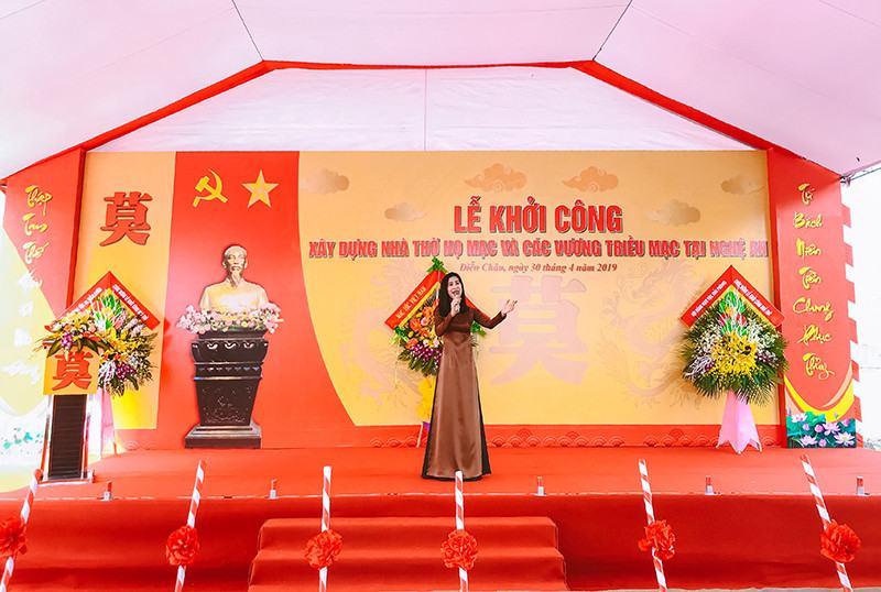 Khởi công xây dựng nhà thờ họ Mạc và các Vương triều Mạc tại Nghệ An
